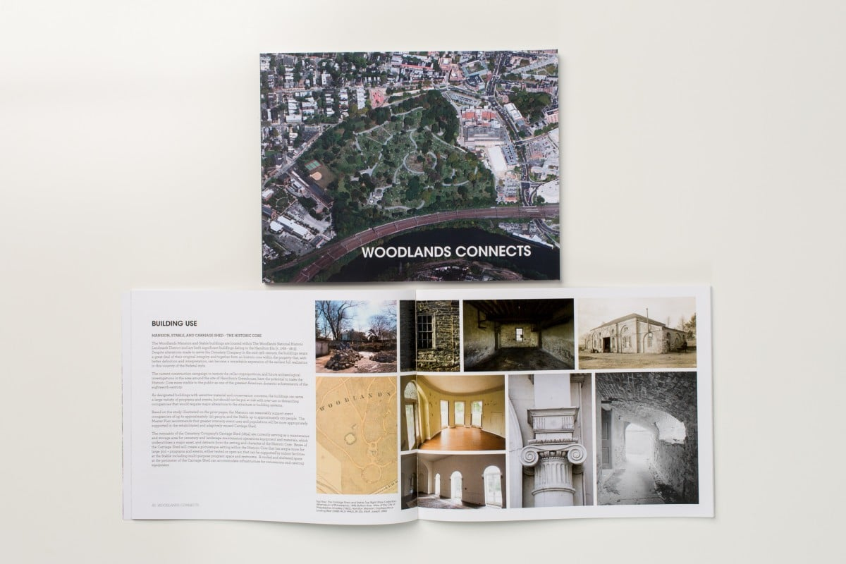 Client Presentation Book Printing for The Woodlands Trust