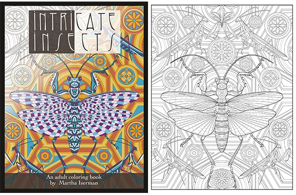 How to Create a Coloring Book, like Intricate Insects