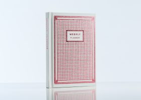 custom hardcover pink foil stamp