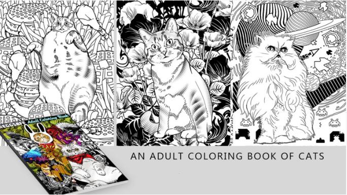 Cats and Kickstarter Coloring Book Printing