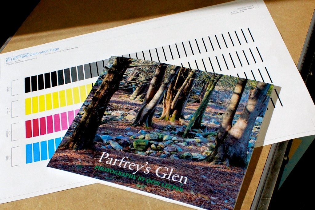 Photo book created in Adobe Lightroom and printed by Blurb.
