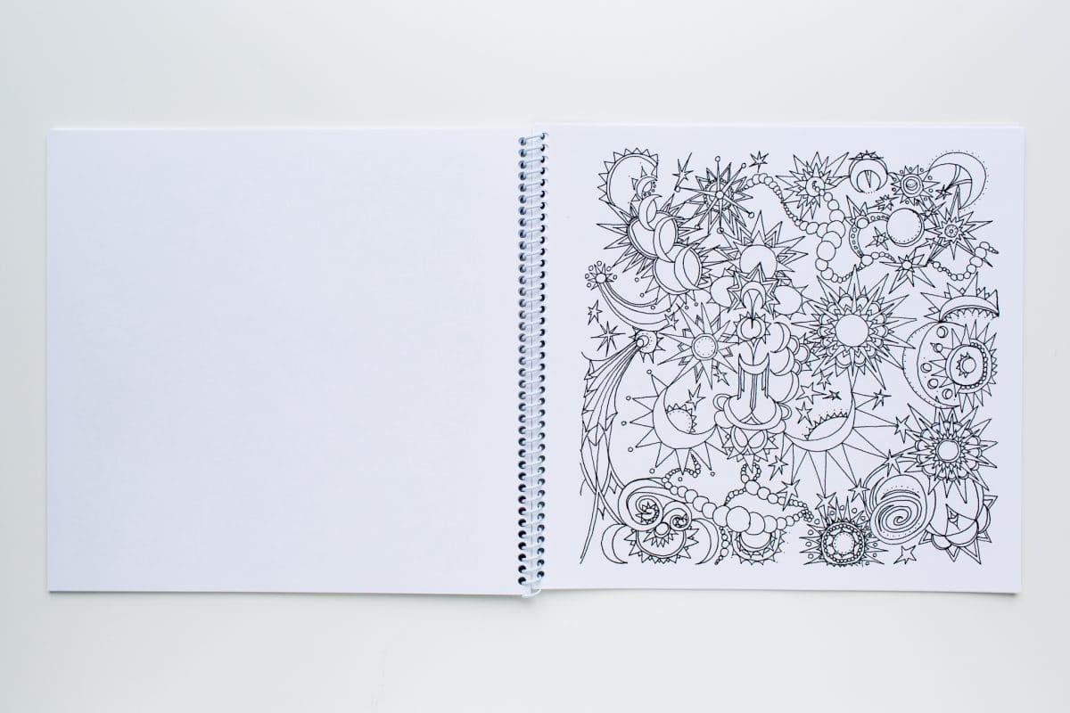 Spiral Binding Coloring Book