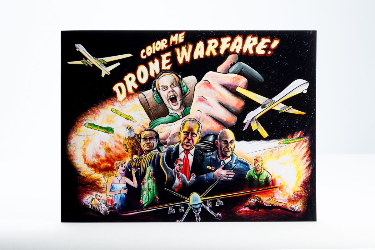 color me drone warfare coloring book printing - Color Book Printing
