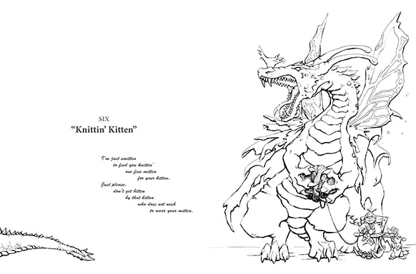 Print Coloring Book Or Printable PDFs Today I Draw Dragons Offers Both
