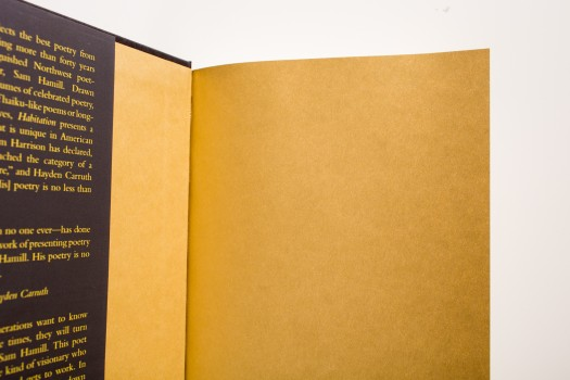 While endsheets are often cream or white to match the color of the book block, they are also available in a wide selection of colors.
